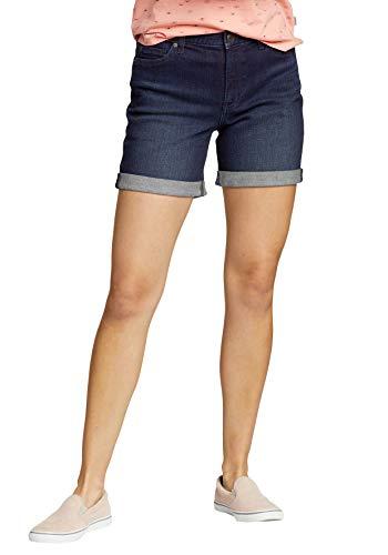 Eddie Bauer Damen Boyfriend Jeans-Shorts, Gr. 6 (36), Bachblau
