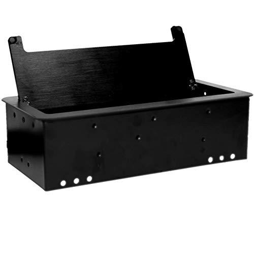 Orno AE-13125/B(GS) Versenkbare Einbau Steckdosenleiste 2fach + 2x USB Ladegeraet 1,5 m Kabel