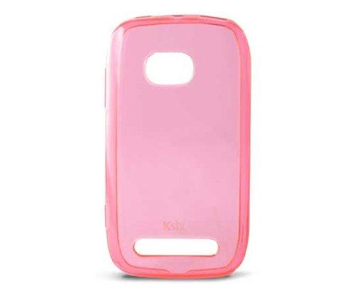 Ksix B2315FTP03 - Funda flexible de TPU para Nokia Lumia 710, rosa