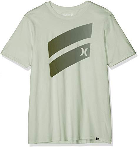 Hurley Herren T-Shirts M Icon Slash Gradient S/Tee, Jade Aura, L, AJ1782