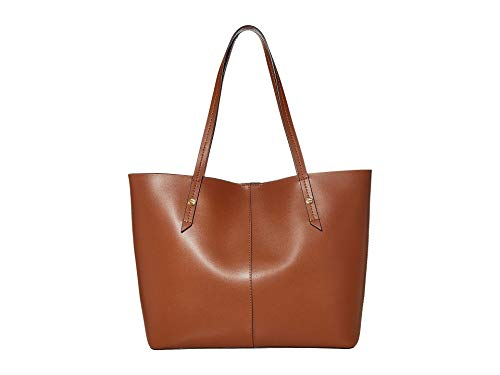 J.Crew Bonded Leather Tote Brown Burgundy One Size