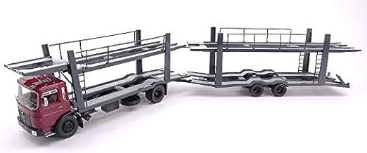 Man Car Transporter with Trailer 1970Red/Grey 1: 43–IXO Model–Camión–Die Cast–Modelo