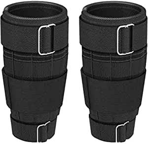 Gewicht Bein Arm Verstellbare Gewichtsmanschetten Fußgelenkgewichte, 0.5LB bis 10LBS/0.5KG-5.0KG, Gewichte für Beine und Arme, für Gehen, Joggen, Gymnastik, Fitness (Beinhaltet Nicht Gewichte)