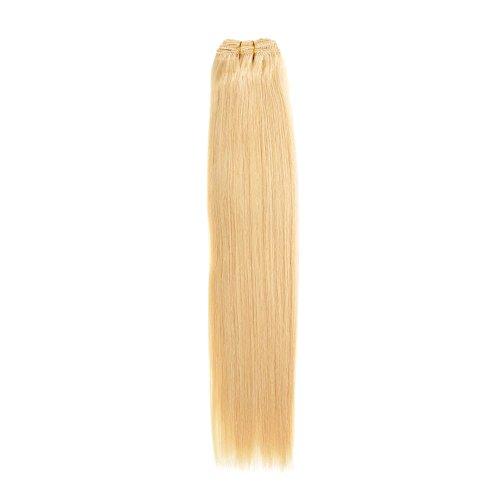 Euro soyeux tissage | Extensions de cheveux humains | Blond 61 cm | Blondie (22) American Pride