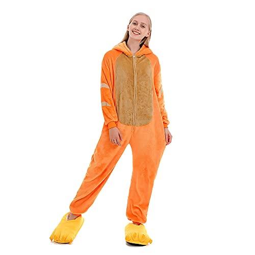 WEIYIing Ladies 'One Piece Pajamas Orange Cat Onesie Pijamas Adulto One Piece Sleepwear Sleepsuit Pijama Cosplay Disfraces de Navidad-Metro