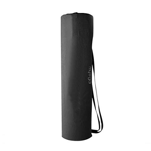 Myga Bolsa de transporte negra para esterilla de yoga – Bolsa para esterilla de yoga de pilates con asas ajustables – Bolsa de yoga compacta para ejercicio fitness larga
