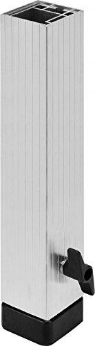 Bullstage Teleskopfuß vierkant 60x60mm - Höhe 40 bis 60 cm