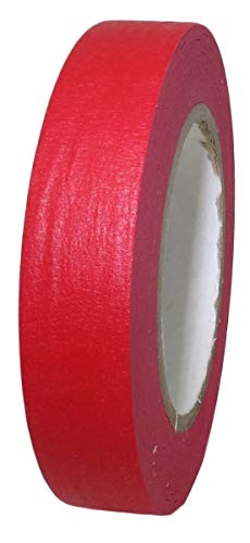 T.R.U. CPM-60 Colored Kraft Masking Tape with Rubber Adhesive Ideal for Teachers, Labeling, Classroom, and Decoration. 6o Yards. (Red, 1 in. (Pack of 1))