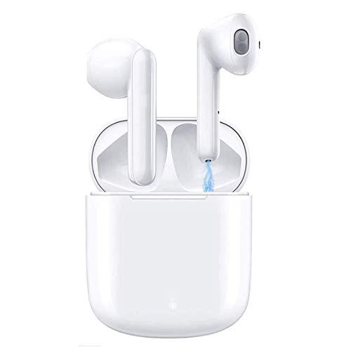 Auricolare Bluetooth 5.0 Senza Fili, Cuffie Wireless Stereo 3D with IPX5 Impermeabile, Accoppiamento Automatico Per Chiamate Binaurali, Adatto Compatibile con iPhone Android Xiaomi