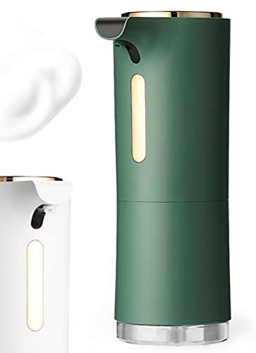 LYO - Dispenser di sapone automatico, dispenser per sapone in schiuma con sensore a infrarossi, diffusore di oli essenziali, IPX4, per lavare le mani senza contatto, per bagno, cucina, colore: verde