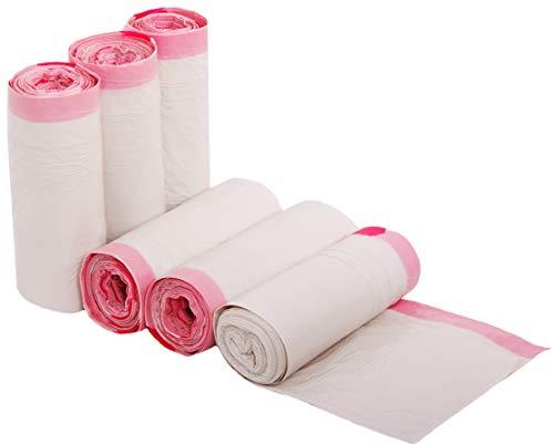 FAYUNET-Bolsas de Basura 35 litros Blancas con asas 6 rollos