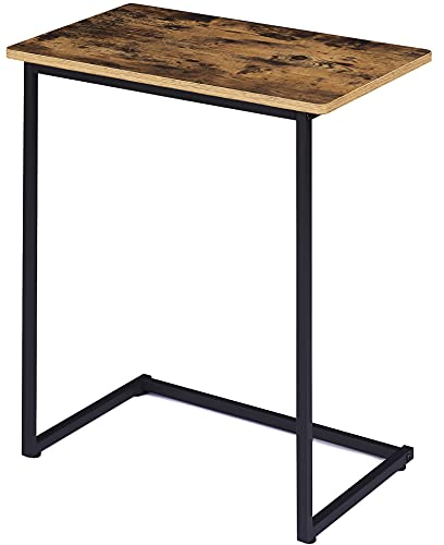 EKNITEY C Table End Table - Small Side Table Industrial Snack Table for Sofa, Couch, Living Room, Bedroom and Small Spaces