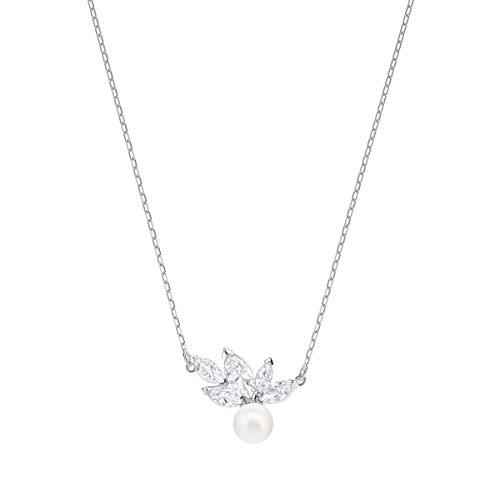 Swarovski Louison Pearl Anhänger für Frauen, weißes Kristall, rhodiniert