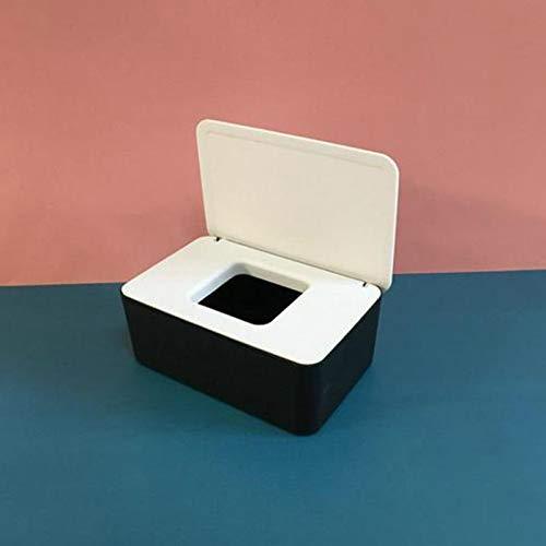 Caja de Almacenamiento de Pañuelos con Tapa Soporte Dispensador de Toallitas Portátiles Caja de Toallitas Selladas Impermeables para Bebés Caja de Toallitas Reutilizable para