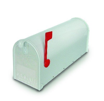Aluminium box 34328 Topolino USA/1 brievenbus, wit