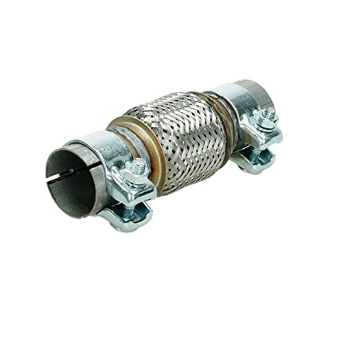ECD Germany Tuyau Flexible - 50,7 x 100 - pour D' échappement Auto Verrouillage - Acier Inoxydable - avec Deux Pinces - Assemblage sans Soudure - Système du Tube Ondulé