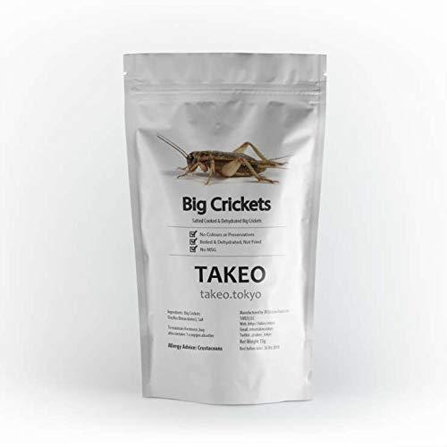 食用虫 昆虫 コオロギ(クリケット/フタホシコオロギ)15g タイ産 食品 入門 スナック TAKEO