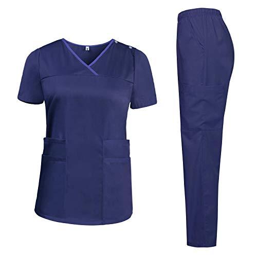 Pantalone ShiFanA Abbigliamento Medico Donna Divise da Lavoro Complete Infermiere Casacca