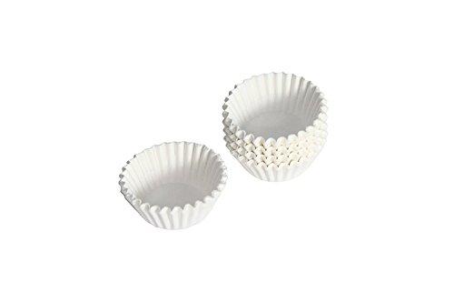 Pralinenkapseln Perg. Ersatz in zwei Farben, Farbe:Weiß, Menge:500 Stück