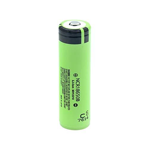 Shentop BateríAs De Litio De Iones De Litio Ncr18650b De 3,7 v 3400 Mah, Recargables con PCB Protegido para Pilas De Linterna De Banco De Energía 6pieces