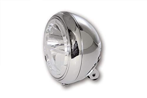 Highsider Phare Moto Voyage LED Projecteurs principaux 205 mm en bas chrome