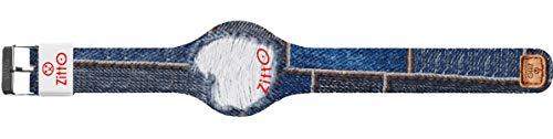 Orologio digitale unisex piccolo ZITTO JEANS STREET EDITION in silicone blu jeans MELTEDBLUE-MINI-KD