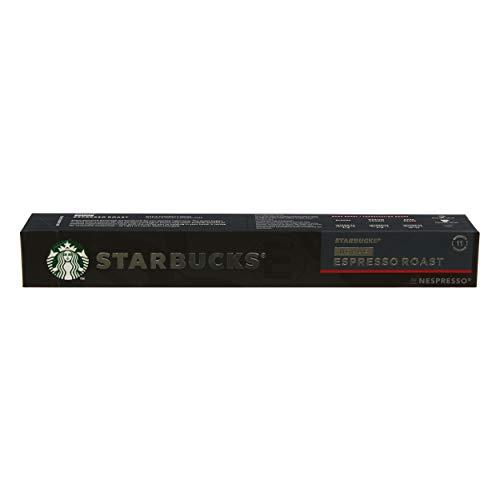 Starbucks Decaf Espresso Roast Café, Dark Roast, Röstkaffee, Nespresso Compatible, Entkoffeiniert, Kaffeekapseln, 10 cápsulas.