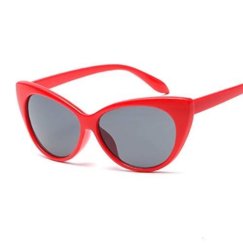 AleXanDer1 Gafas de Sol Lentes Gafas De Sol Mujeres Marco De Plástico Gafas De Sol Gafas De Sol Gafas De Sol UV400 Moda (Lenses Color : Red Gray)