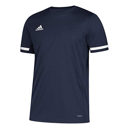 adidas T19 SS JSY W Camiseta de Manga Corta, Mujer, Team Navy Blue/White, L