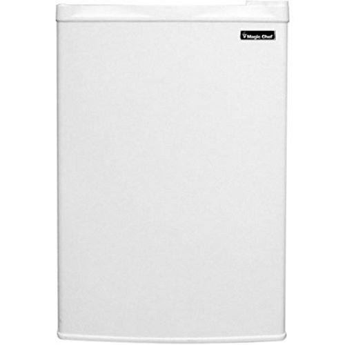 Magic Chef 3.0 cu ft Upright Freezer, White, Flush-back design saves space in your home or office