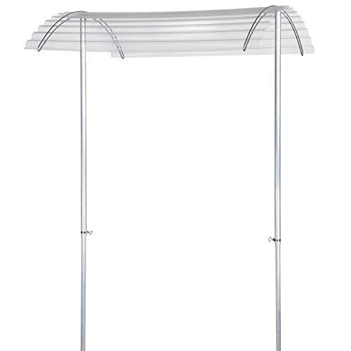 bellissa Tomatendach RAPIDO - 90470 - Höhenverstellbares Schutzdach für Tomaten - 119 x 115 x 130-225 cm