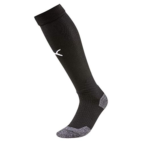 PUMA Liga Socks, Calzettoni calcio Unisex adulto, Nero Black White, 43-46