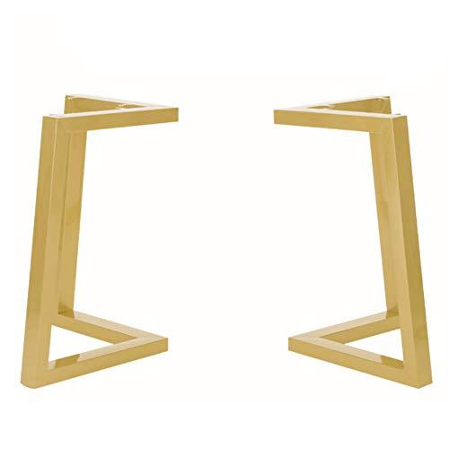 Table legs LDFZ 72cm hoge V-vormige tafelpoten tafelkleden, smeedijzer met verstelbare meubelvoeten, geschikt voor keuken eettafel 2 stuks