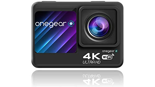 ONEGEARPRO ACTION CAM EIS4KPRO 60fps WIFI, DISPLAY ANTERIORE APP per gestire cam e video da smartphone,stabilizzatore EIS e giroscopio a 6 assi, subacquea 30 mt, comando a distanza, GARANZIA EUROPEA