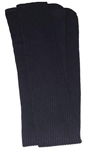 skatersocks 35 Inch Damen Overknee Socken Kniestrümpfe oldschool Sportsocken schwarz