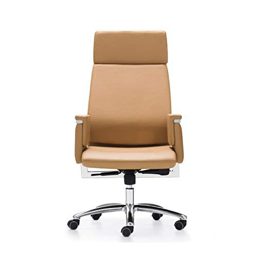 DJDLLZY - Sedia da ufficio con bracciolo, sedia da ufficio tradizionale, regolabile e girevole, in pelle, scrivania e sedia per ufficio o casa