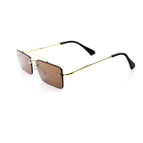 N/A Gafas de Sol para Hombre Gafas de Sol para Mujer Gafas de Sol cuadradas Gafas de Sol de Fiesta de Pasarela Gafas de Sol en Forma de ceja de Color Caramelo
