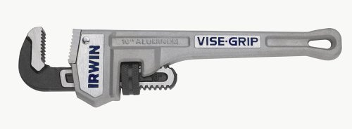 IRWIN VISE-GRIP Tools Cast Aluminum Pipe Wrench, 1-1/2-Inch Jaw Capacity, 10-Inch (2074110)