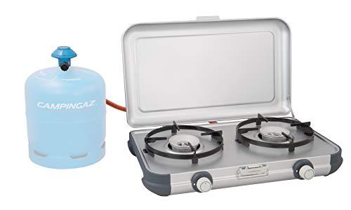 Campingaz Fornello per Campeggio Camping Kitchen 2, Cucina da Campeggio,Fornello a Gas, Due Fuochi Portabile, 4.000 Watt