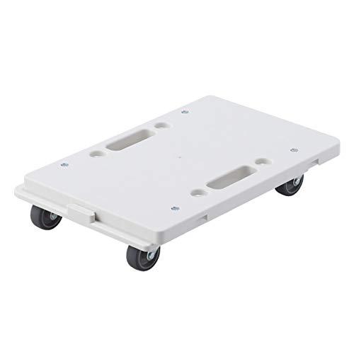 無印良品 縦にも横にも連結できるポリプロピレン平台車 約幅27.5×奥行41×高さ7.5cm 82007848