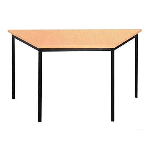334021 Schreibtisch Profi Trapeztisch Besprechungstisch Büromöbel Konferenztisch Computertisch 140x70cm schwarz/Buche Dekor