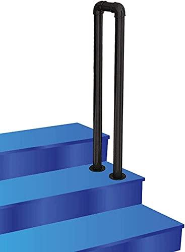 LYP Barandilla de Escalera de Hierro en Forma de U, para escalones Exteriores o barandillas de escaleras Interiores, barandilla de la Cubierta del Porche Rieles de Agarre Antideslizantes, 35-100