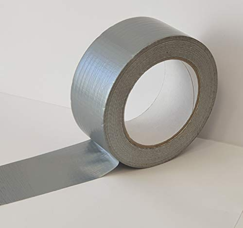 IMBALLAGGI 2000 - Nastro adesivo Americano telato - Nastro telato extraforte sigillante idrorepellente multiuso - (GRIGIO, 1)
