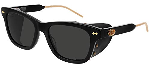 Gucci Gafas de Sol GG0671S BLACK/GREY 54/19/145 hombre