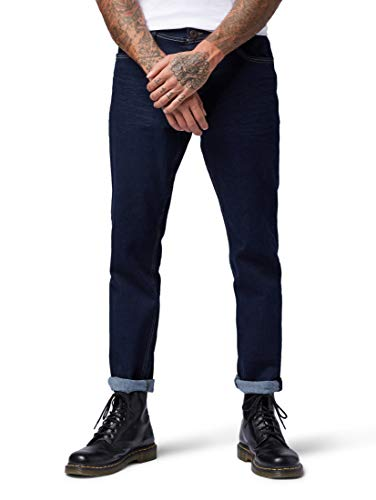 TOM TAILOR Herren Jeanshosen Josh Regular Slim Jeans Clean Rinsed Blue Denim,34/32