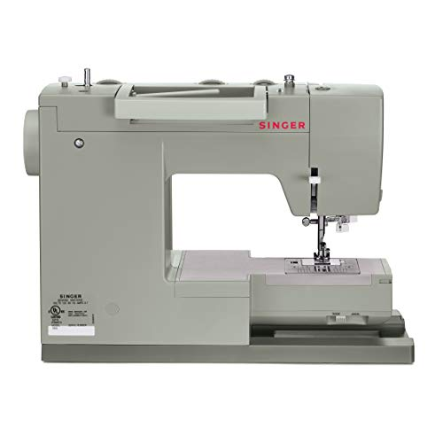 SINGER Heavy Duty 4452 Accessories, 32 Built, 60% Stronger Motor, Stainless Steel Bedplate, 48% Faster Stitching Speed & Automatic Nee Sewing Machine, Grey