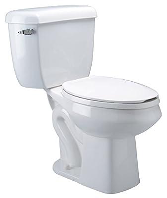 Zurn Z5561 ADA, Elongated Pressure Assist, 1.0 gpf, Two-Piece Toilet