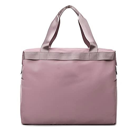 BERJMA Bolsa de Viaje para Mujer, portátil de Corta Distancia, de Gran Capacidad, Deportiva, de Viaje, Bolsa de Gimnasio, Bolsa de Lona de Almacenamiento portátil Pink