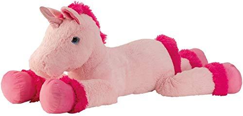 Knuffel enorme knuffel eenhoorn knuffel knuffel XXL 110 cm lang in roze / roze om van te houden