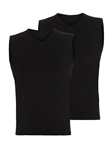 Bruno Banani Herren Tanktop 2Pack Cotton Simply Unterhemd, Schwarz (schwarz 7), Medium (Herstellergröße: 5) (2er Pack)